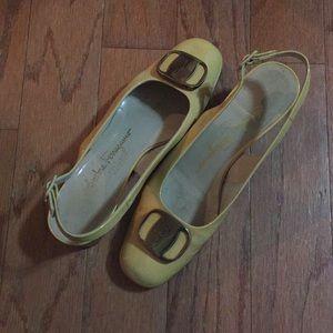 Salvatore Ferragamo yellow shoes